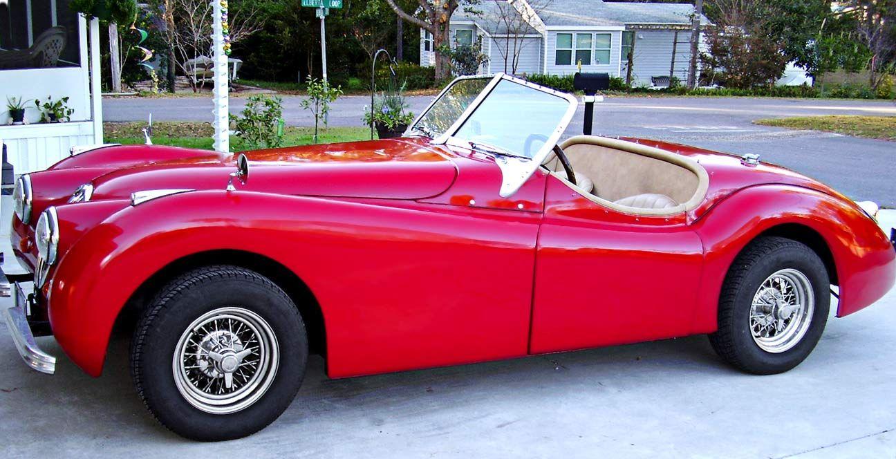 Pink Jaguar XK120