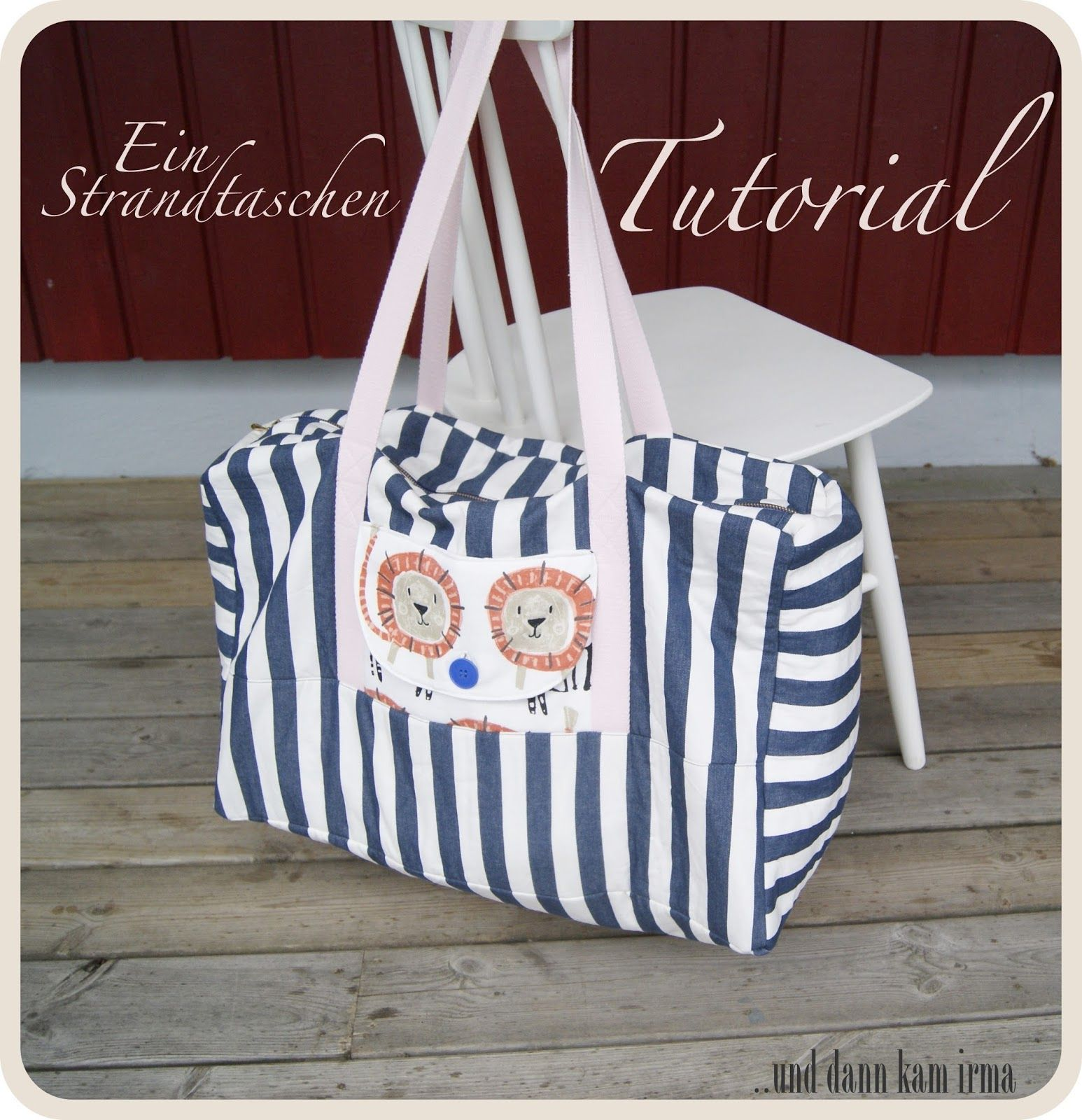strandtasche free tutorial schnittmuster n hanleitung bags accessoires. Black Bedroom Furniture Sets. Home Design Ideas
