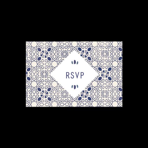 Carton RSVP invitation carreaux de ciment tiles