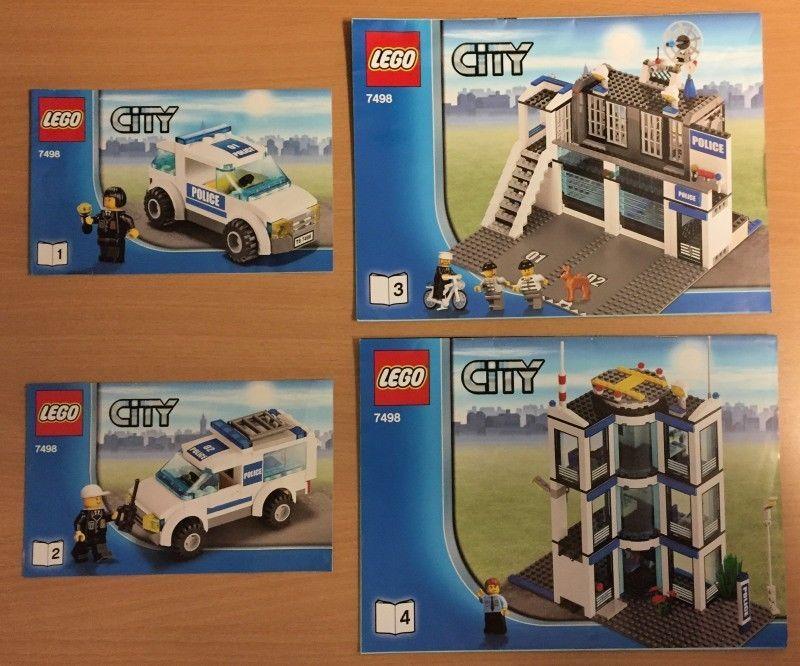 Lego Bauanleitung Instruction 7498 Polizeistation City Spielzeug