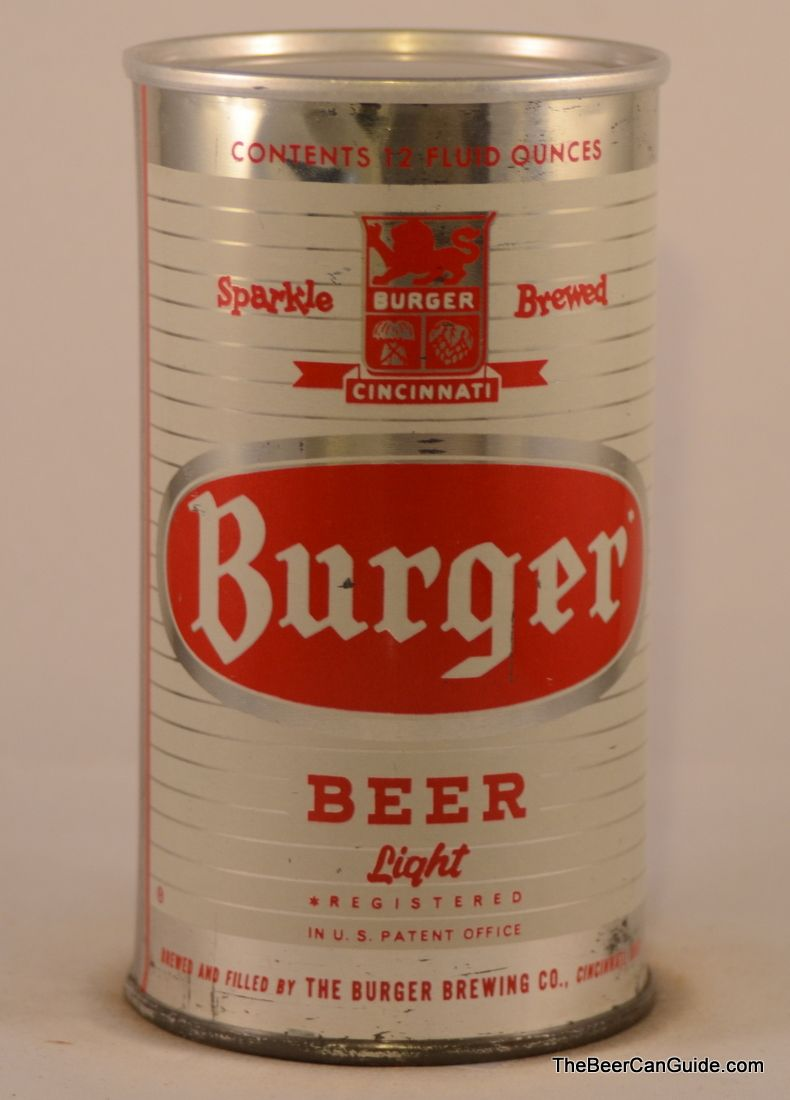 Burger Beer Brewed In Cincinnati Associated With The Cincinnati Reds Going Back To The Days At Crosley Fi Cincinnati Breweries Cincinnati Beer Can Collection
