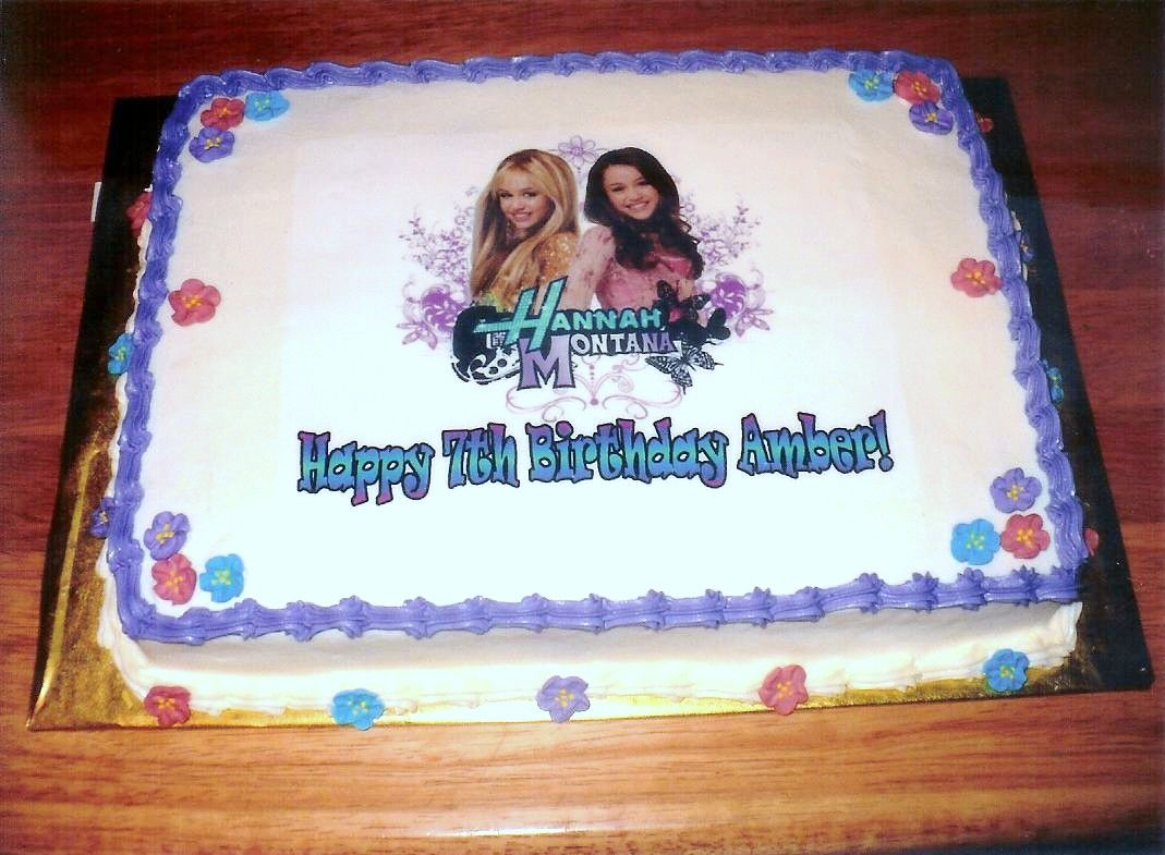 Brilliant Hannah Montana Birthday Cake With Images Birthday Food Birthday Cards Printable Inklcafe Filternl