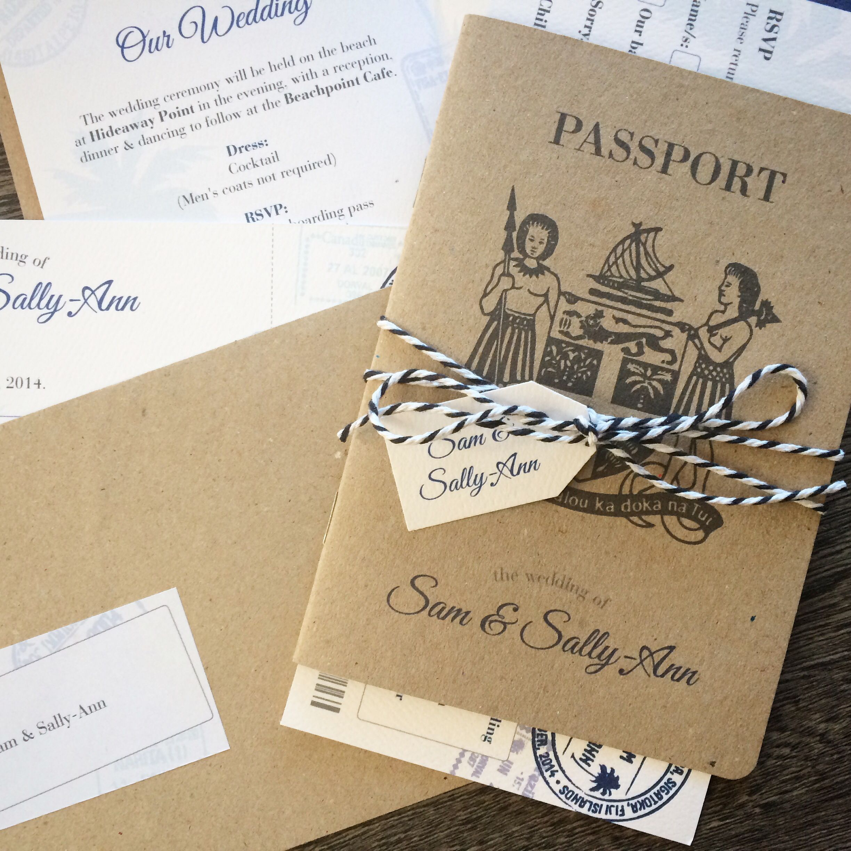 Fiji Passport invitations for a lucky couple! #fiji ...