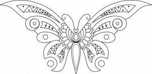 Mariposas Grandes En Blanco Para Imprimir Patrones Pinterest