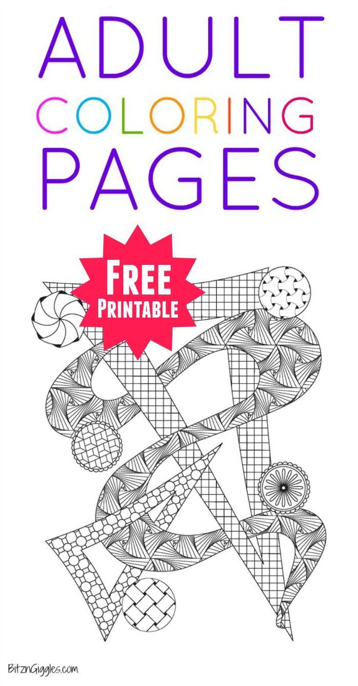 Printable Adult Coloring Pages   Pinterest   Mandalas, Colorear y Libros