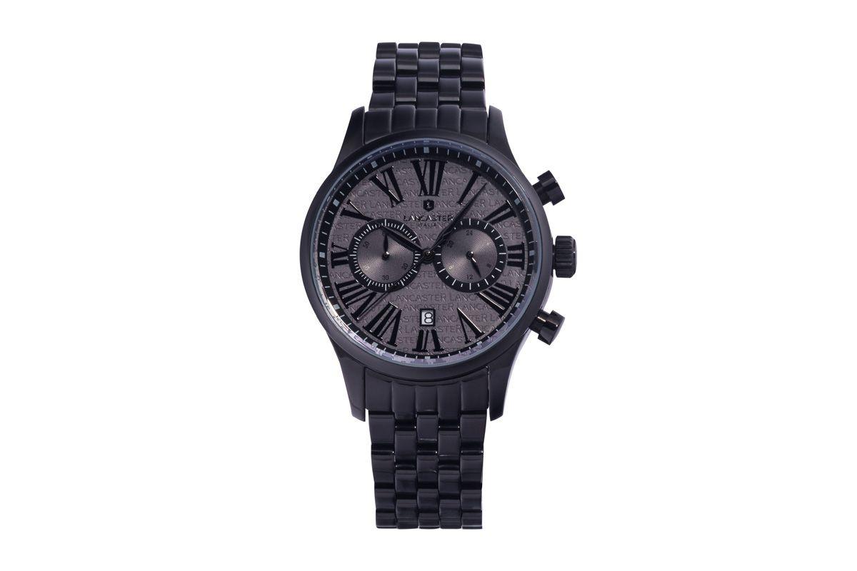Venda Lancaster / 28698 / Homem / Relógios / Relógio de quartzo de aço Discovery Preto