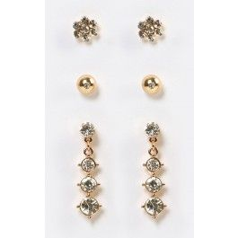 Again the shoes will be the show in this outfit!   Dainty Rhinestone Gem Earrings Set