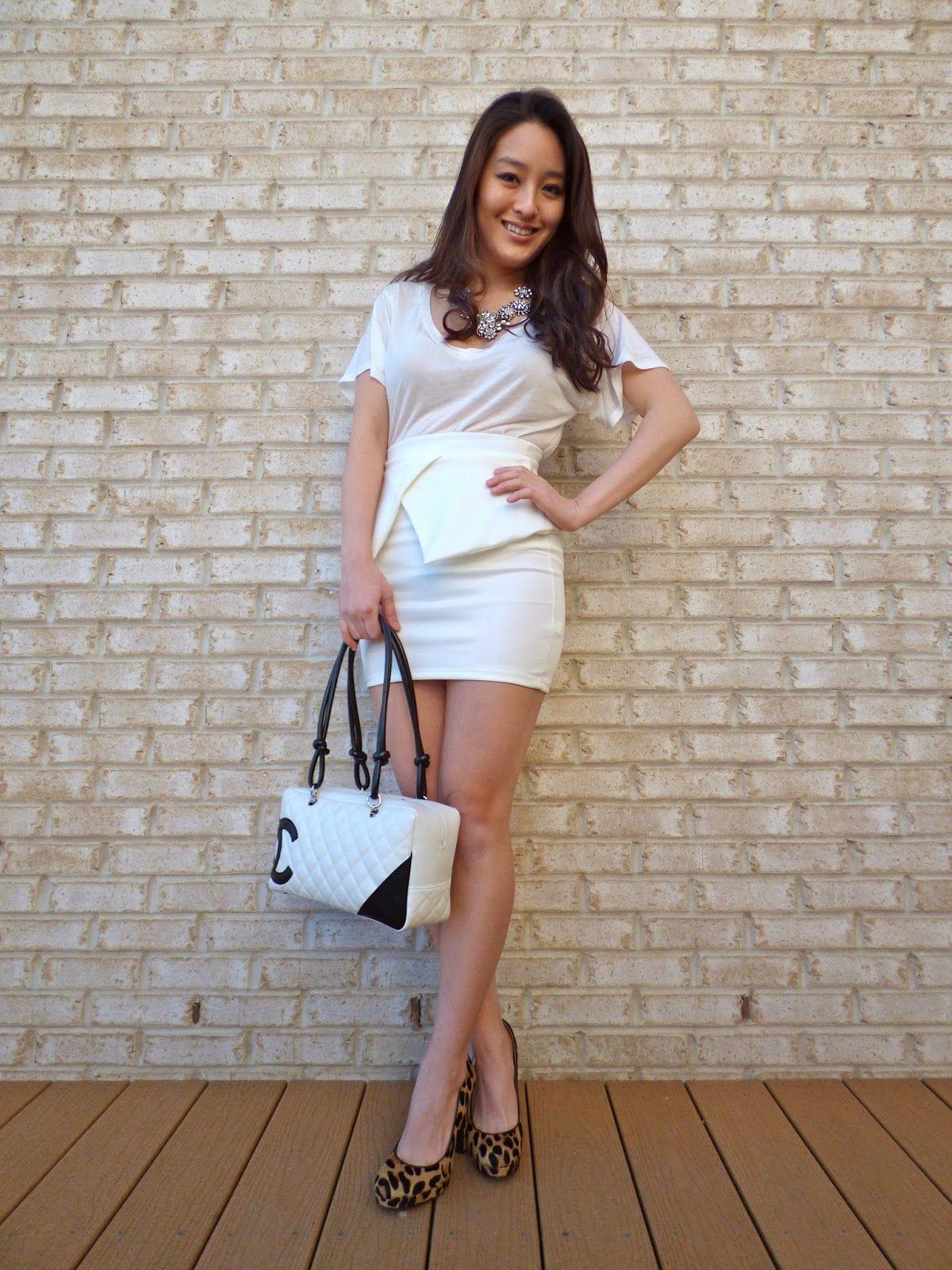 Spotted @Judith Zissman Bruno Stylista sporting a white Charlotte Russe peplum skirt!