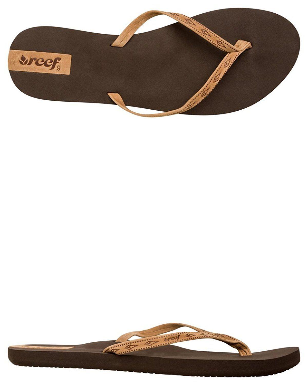 Reef Womens Slim Ginger Leather Sandal