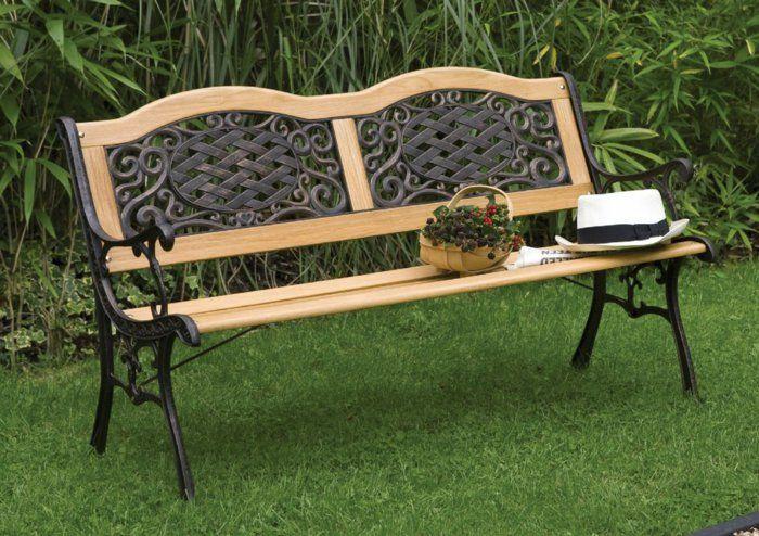 Gartenbank Aus Holz Oder Anderen Materialien Metal Garden