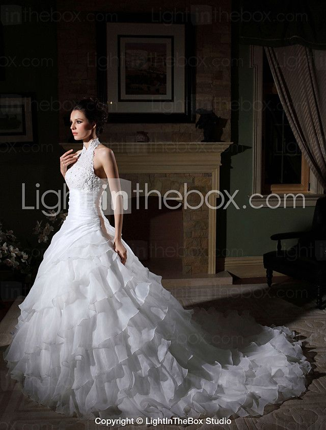 91cea333691 Lanting Bride® Ball Gown Petite   Plus Sizes Wedding Dress - Classic    Timeless   Elegant   Luxurious   Glamorous   Dramatic Vintage 2017 -  249.99