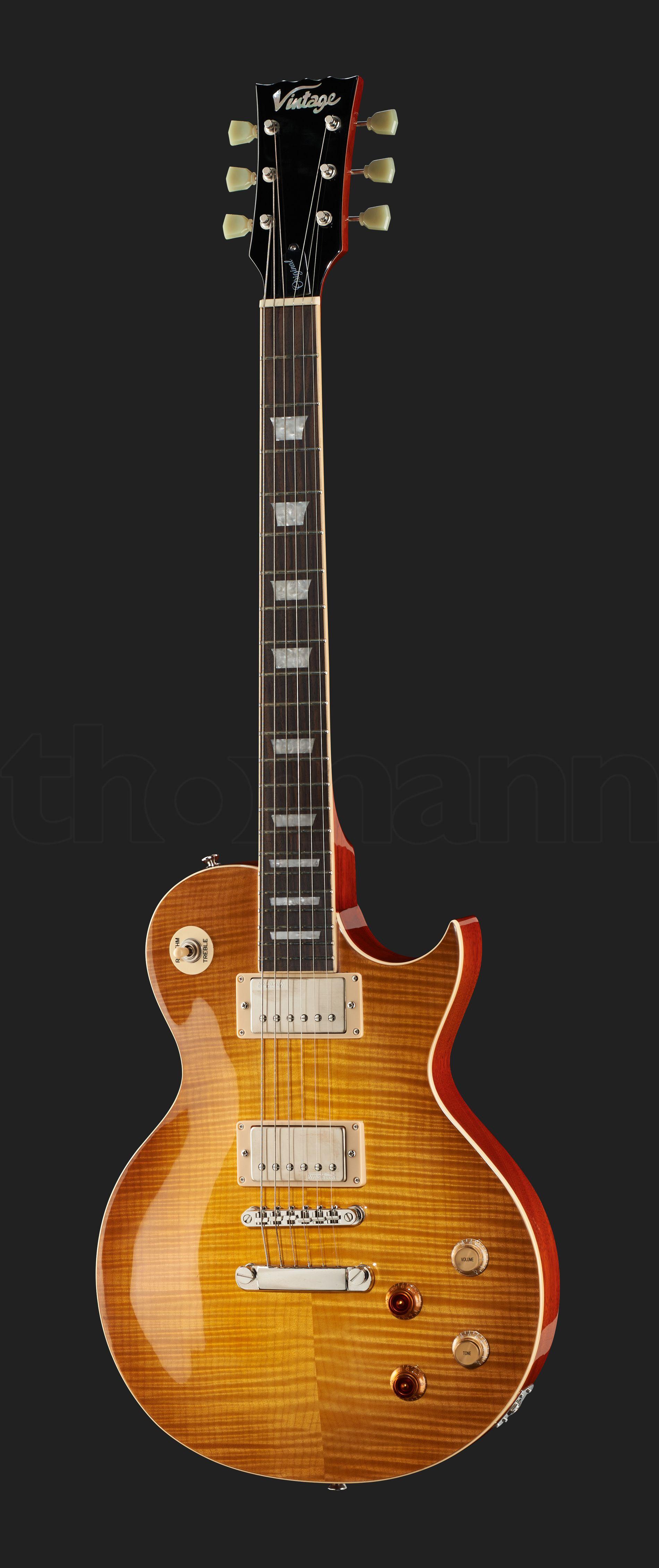 Vintage V100pgm Lemon Drop Reissued Cool Guitar Lemon Drop Vintage