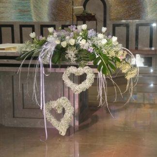 Addobbi Floreali Per Altari Cerca Con Google Church Flower Arrangements Rustic Wedding Flowers Vintage Wedding Flowers
