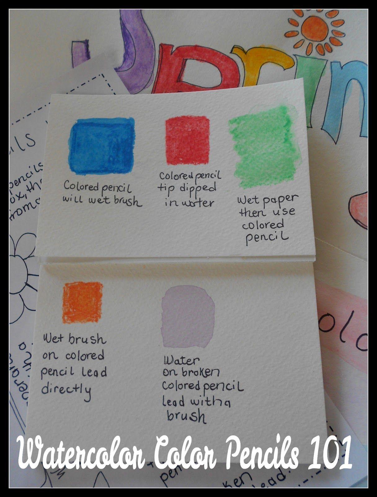 Handbook Of Nature Study Watercolor Pencil 101 Tutorial Video And