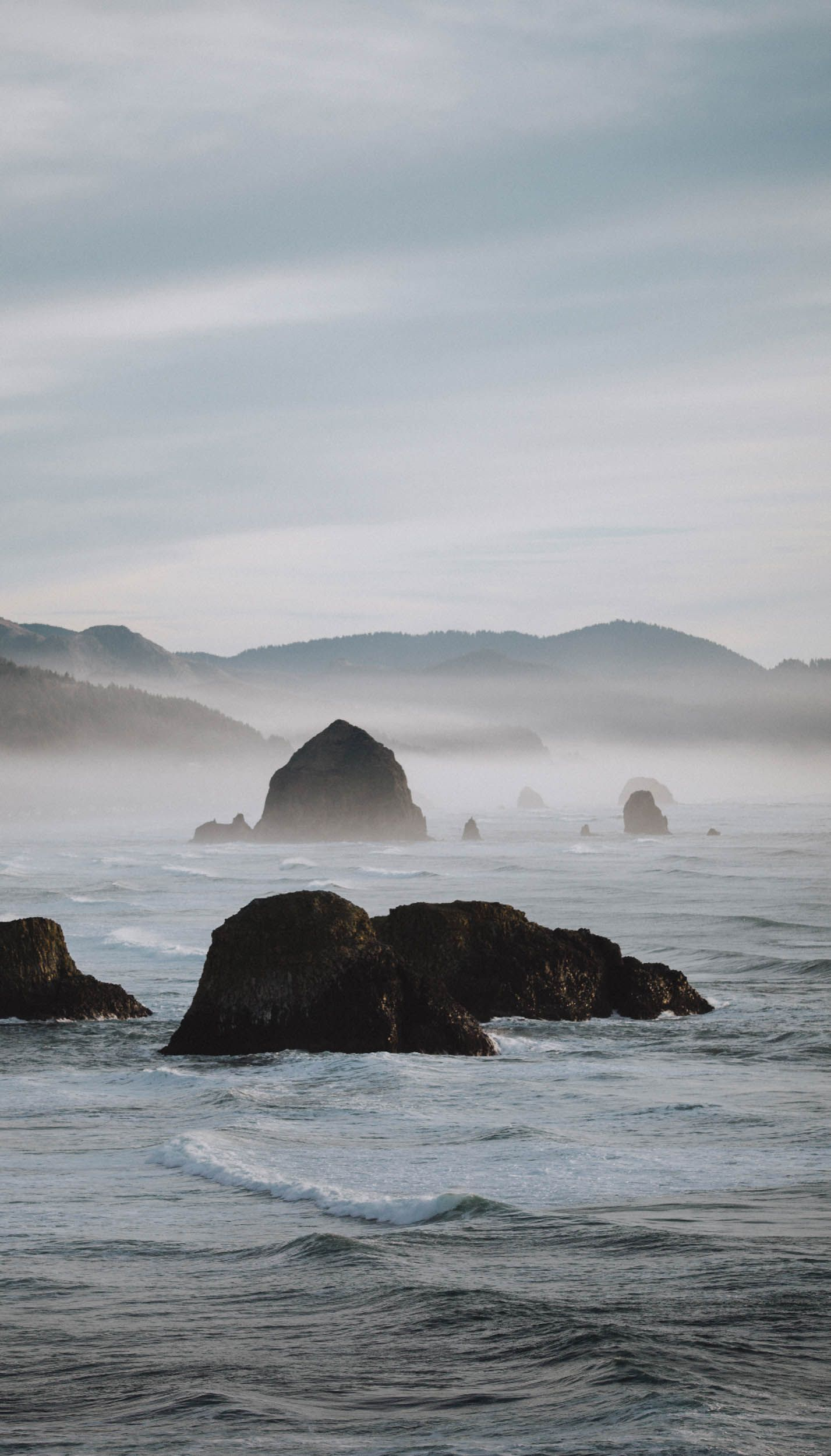 Haystack Rock from Ecola State Park Beach, Oregon