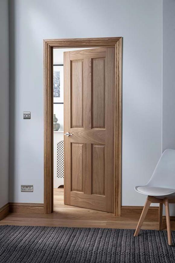 Cheshire 4 Panel Oak Internal Door Image Wooden Doors Interior Wood Doors Interior Oak Interior Doors
