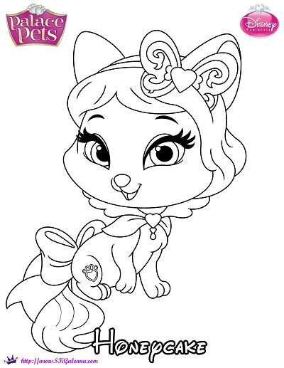 princess palace pets coloring page of honeycake skgaleana