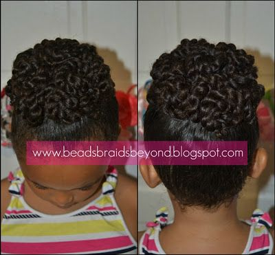natural two strand twisted ponytail