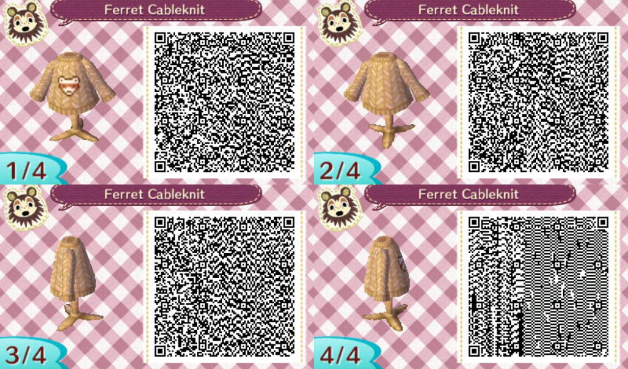Callisto Crossing Ferret Sweater Qr Codes Animals Animal