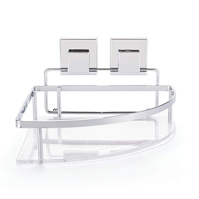 Shower Corner Caddy Basket with Suction Cups Super Powerful Bath