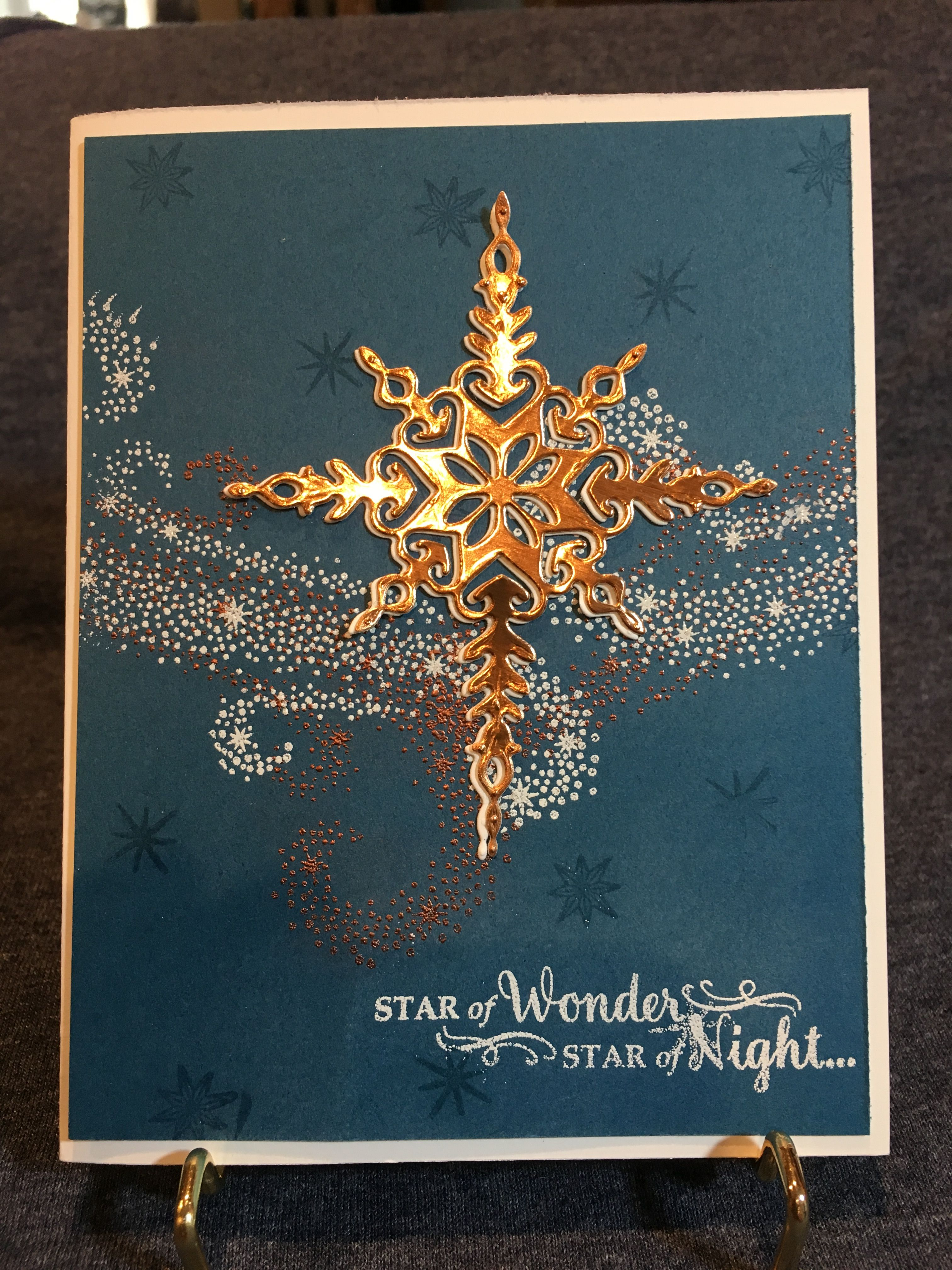 Starlight Thinlits Star Of Light Stamp Set From The New 2016 Holiday Catalogue More Christmas Cards Handmade Christmas Cards To Make Christmas Cards