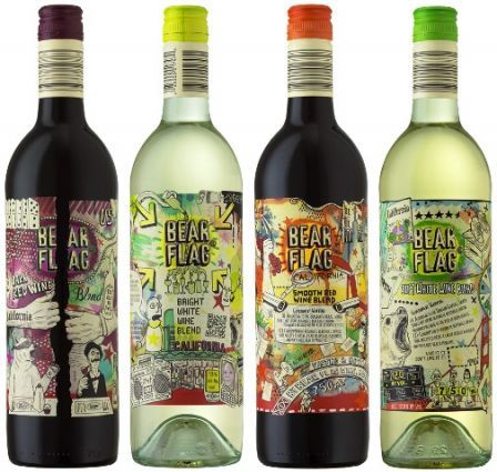 Bear Flag Wines Really Cool Labels Creative Wine Label