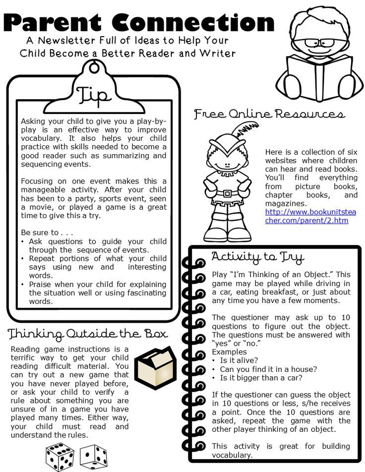 Parent Connection Newsletter Issue 2 For Educators Pinterest