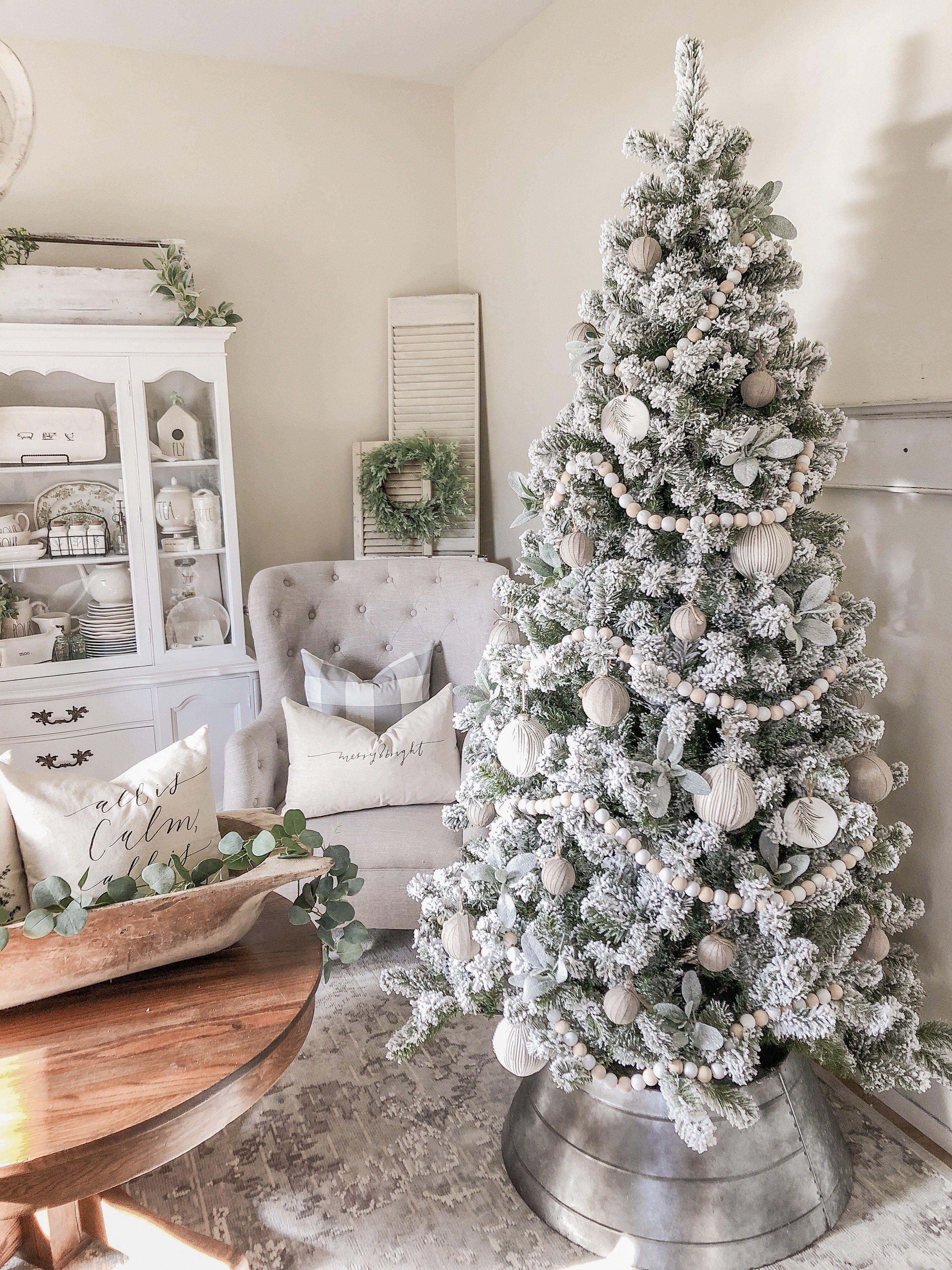 6' Prince Flock Artificial Christmas Tree Unlit - Default Title -   19 farmhouse christmas tree decorations diy ideas