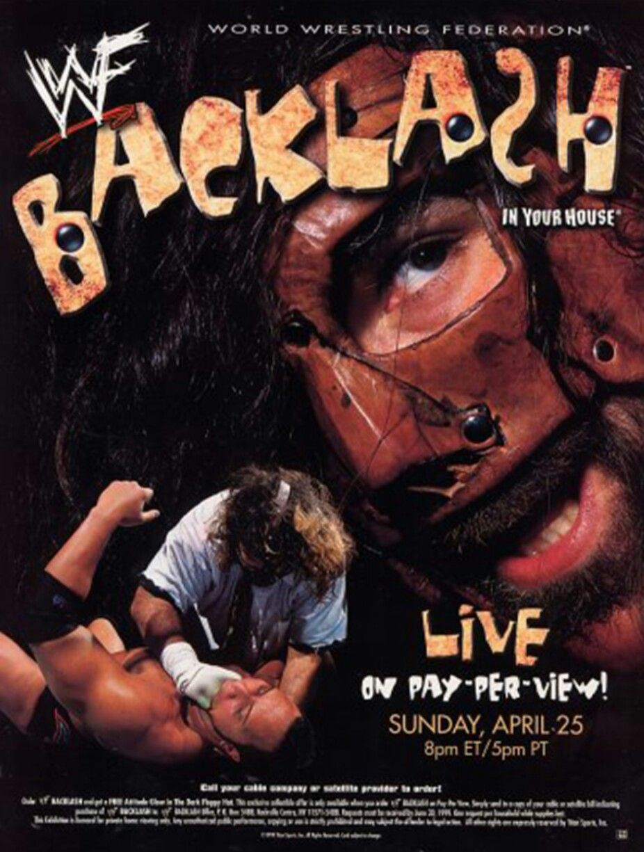 PPV Poster for WWF Backlash 1999. | Wwe ppv, Wrestling posters ...