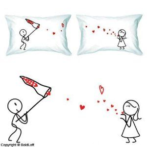 BoldLoft Catch My Love Couple Pillowcases Valentines Day Gifts For Him HerValentines Girlfriend BoyfriendCute Romantic