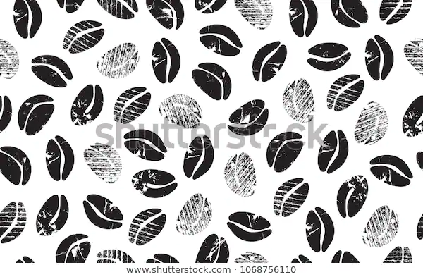 Abstract Coffee Beans On White Background Stock Vector