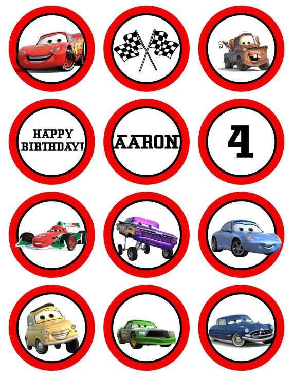 cupcake toppers Jakeys 1st Bday Pinterest Cars Birthdays