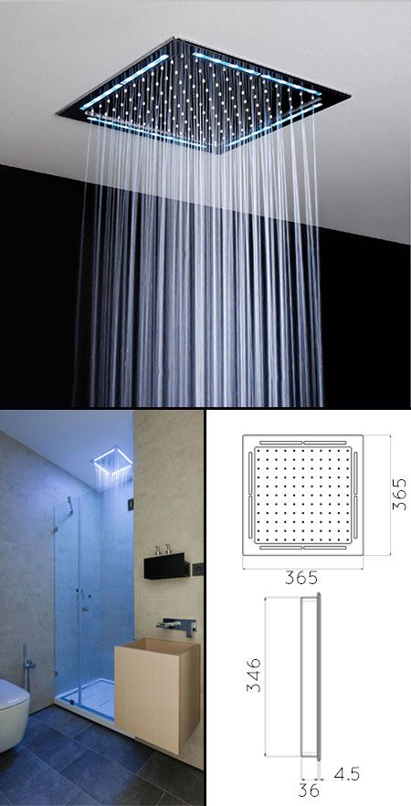 Square Ceiling Shower Head With Lights 77u Ceiling Shower Head Shower Heads Rain Shower Head Ceiling