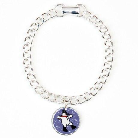 Snowman Charm Bracelet, One Charm