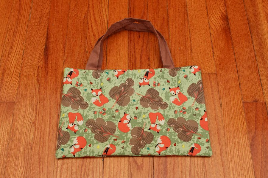 Small Bag with Fox Pattern by SamsCraftables on Etsy