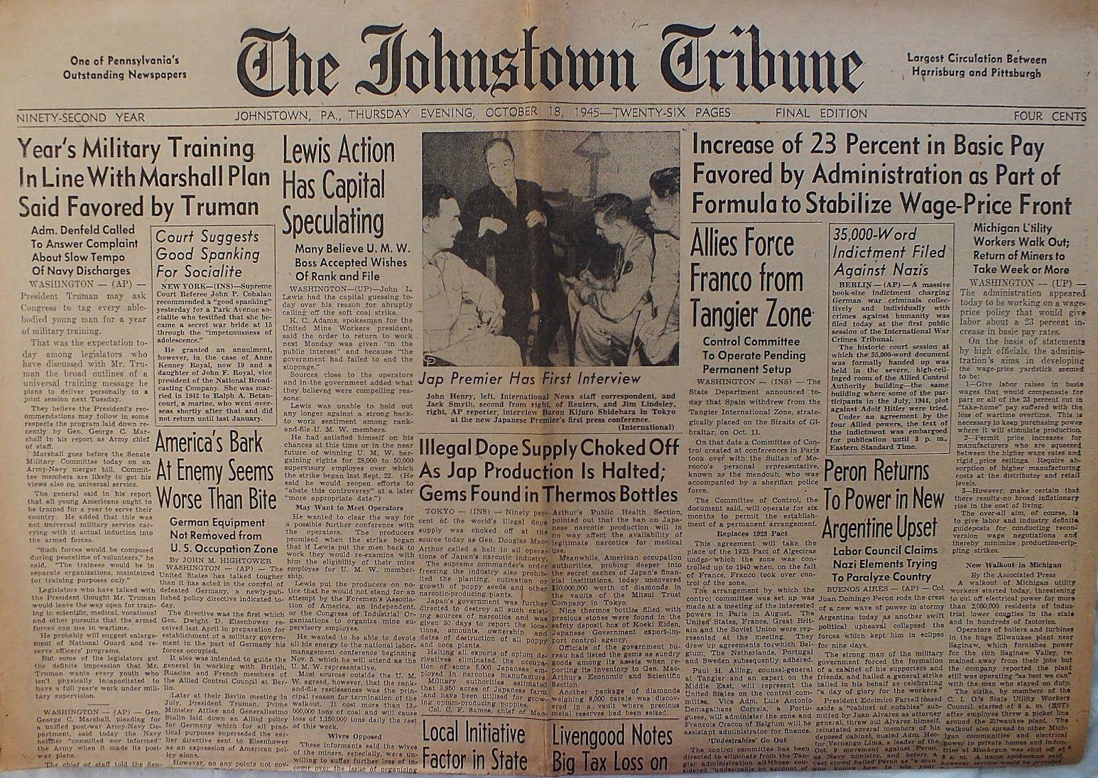 The johnstown tribune october mrs anne quinn leo conrad