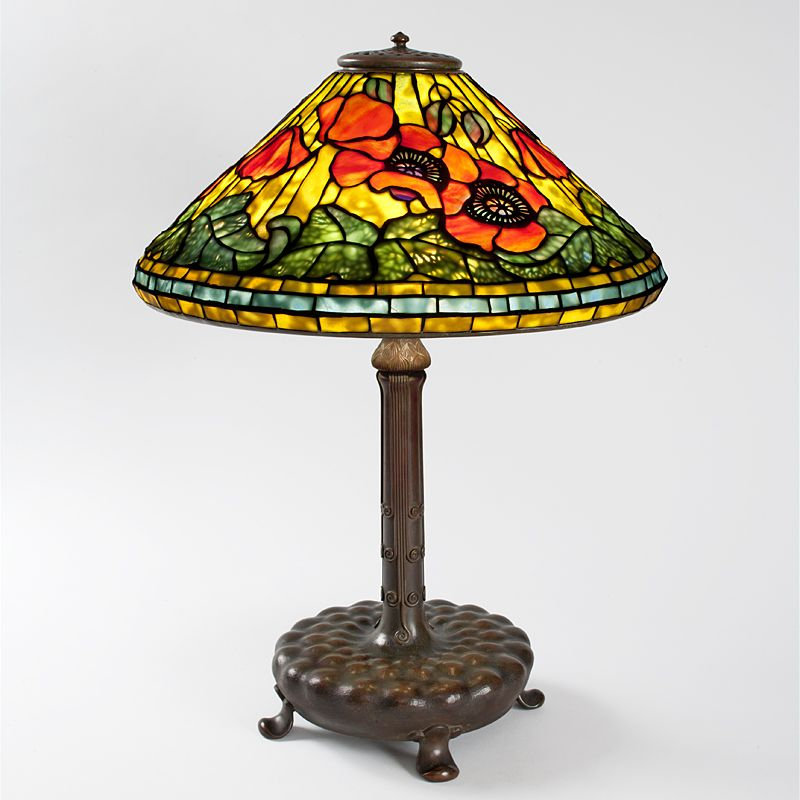 Wire Mesh Poppy Tiffany Lamp Table Lamps Tiffany Lamps Antique