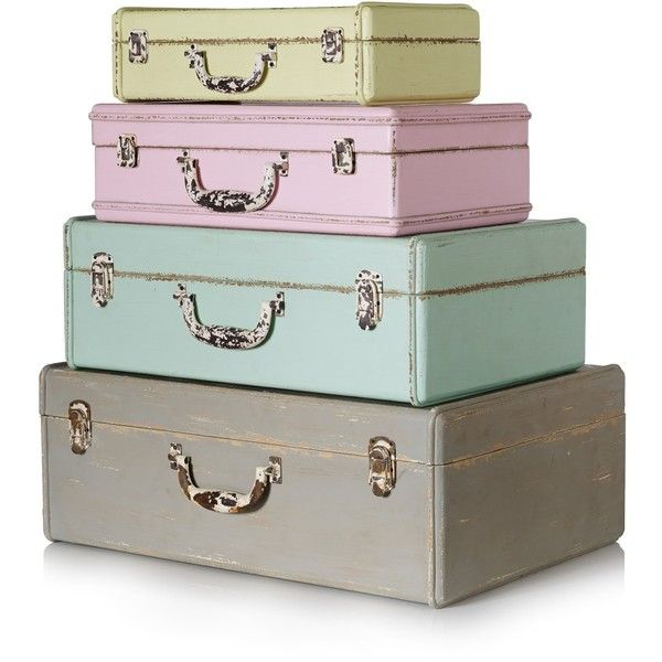 Beau Extra Small Decorative Storage Suitcase (260 CNY) ❤ Liked On Polyvore  Featuring Home, Home Decor, Fillers, Decor, Bags, Furniture, Pastel Storage  Box, ...