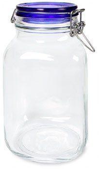 Bormioli Rocco Fido Square Jar With Blue Lid 67 3 4 Ounce By Bormioli Rocco Glass Co Inc 14 98 Capacity 67 3 4 Ounce Bpa Free History Of Glass Vintage Mason Jars Canning Jars