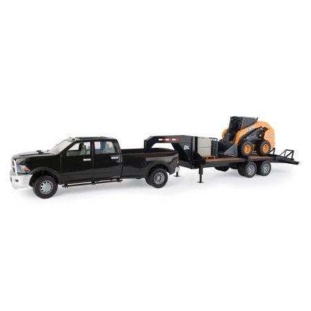 Big Farm SV280 Skid Steer with Ram 3500 Truck & Trailer