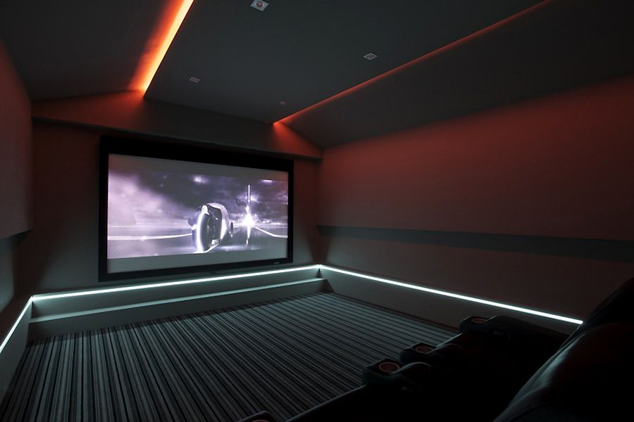 home theater step lighting. home theater lighting step