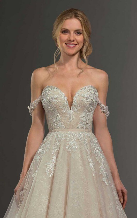 8be6c1435fc6 Beaded Off-the-Shoulder Wedding Dress Separates in 2019 | Martina Liana  Separates: Together.Forever. | Wedding dresses, Wedding dress separates,  Dresses