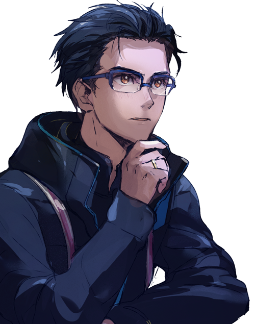 Blonde/Brown Hair and glasses Anime guys with glasses