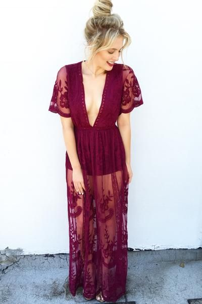 b9d41b8ecbd0 CHLOE LACE MAXI (MERLOT)    The most unique dress you ll own! Get this  gorgeous piece while you can on Effinshop.com