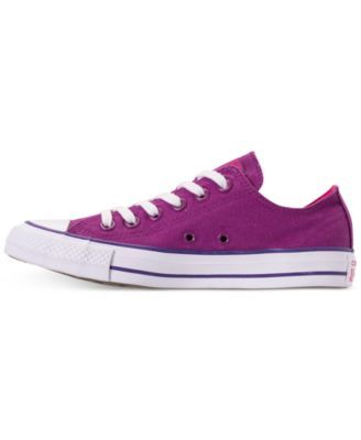 5f3878c10001f3 Converse Women s Chuck Taylor All Star Seasonal Ox Casual Sneakers from  Finish Line - Purple 10