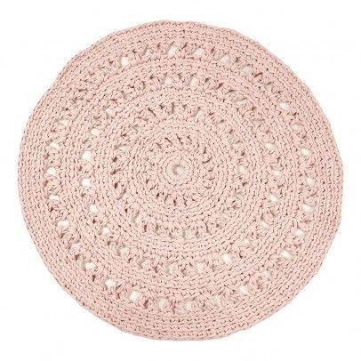 tapis rond crochet rose poudr naco jolis tapis pinterest tapis rond rose poudre et tapis. Black Bedroom Furniture Sets. Home Design Ideas