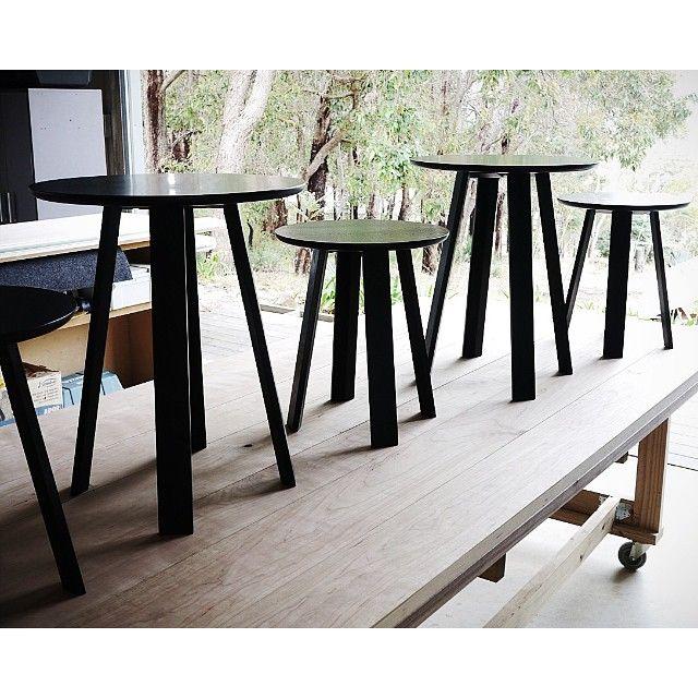 Custom Wonton bedside tables in Ebonised Walnut.#handcrafted #australiandesign #furnituredesign #dunsborough