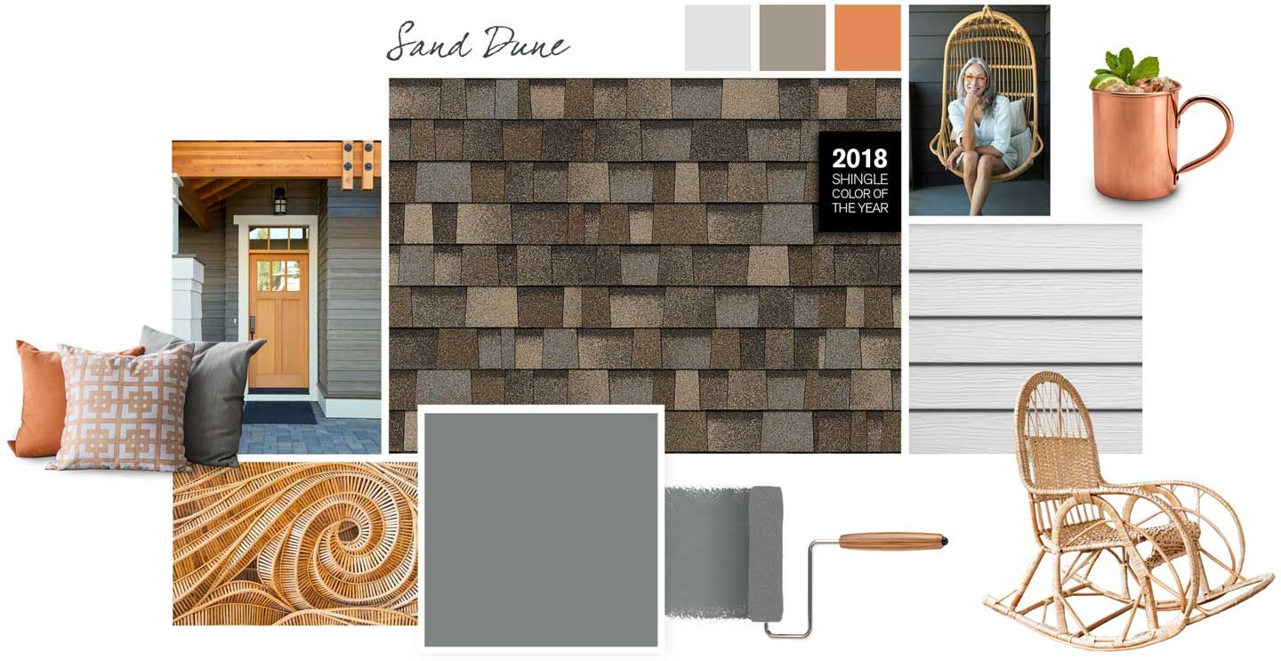 Owens Corning Roof Palette Sand Dune Exterior Paint Colors For House Shingle House Country Home Exteriors