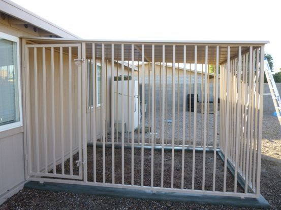 Image result for mobile home porch made with dog kennel