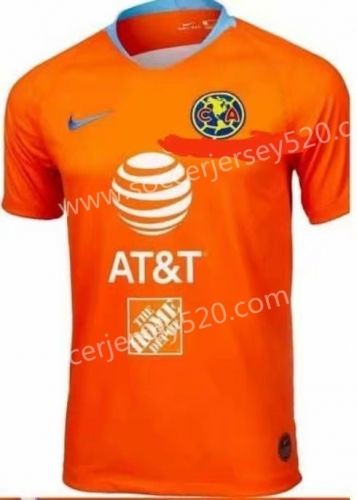 6697bec8b8f 2019-2020 Pumas UNAM 2nd Away Orange Thailand Soccer Jersey AAA-912 ...
